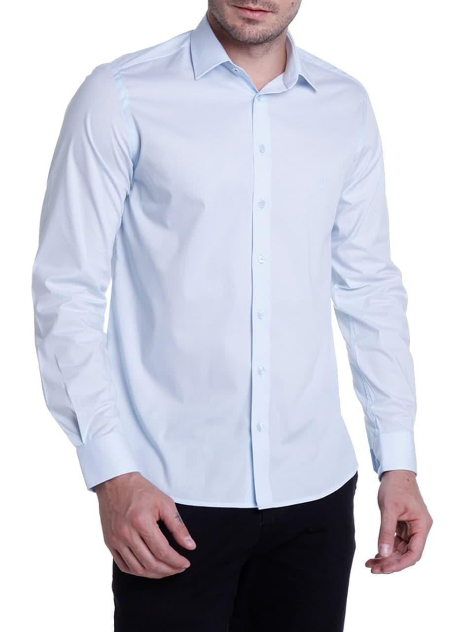 Camisa ML Tricoline Slim Stretch Dudalina
