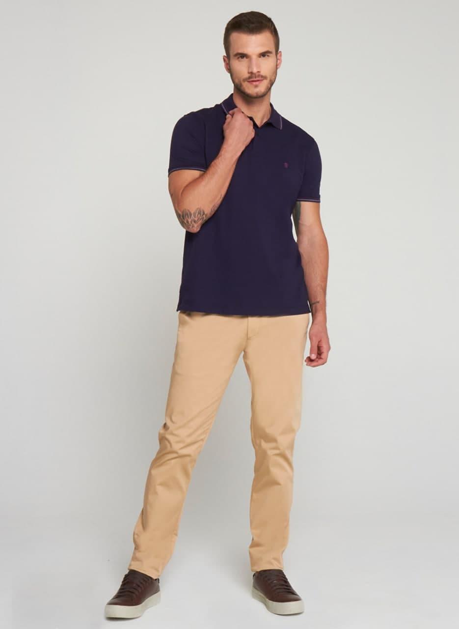 Camisa Polo Individual Manga Curta Comfort Fit