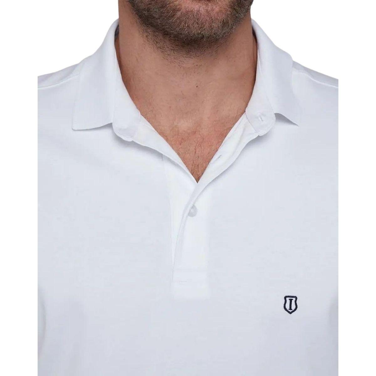 Camisa Polo Individual Manga Curta Pima Básica Slim