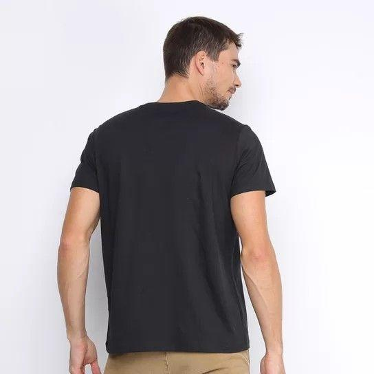 Camiseta Ellus Manga Curta Cotton Fine E Asa Outline Fire Classic
