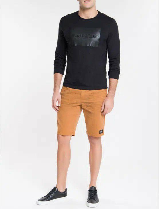 Camiseta ML Calvin Quadrado Calvin Klein