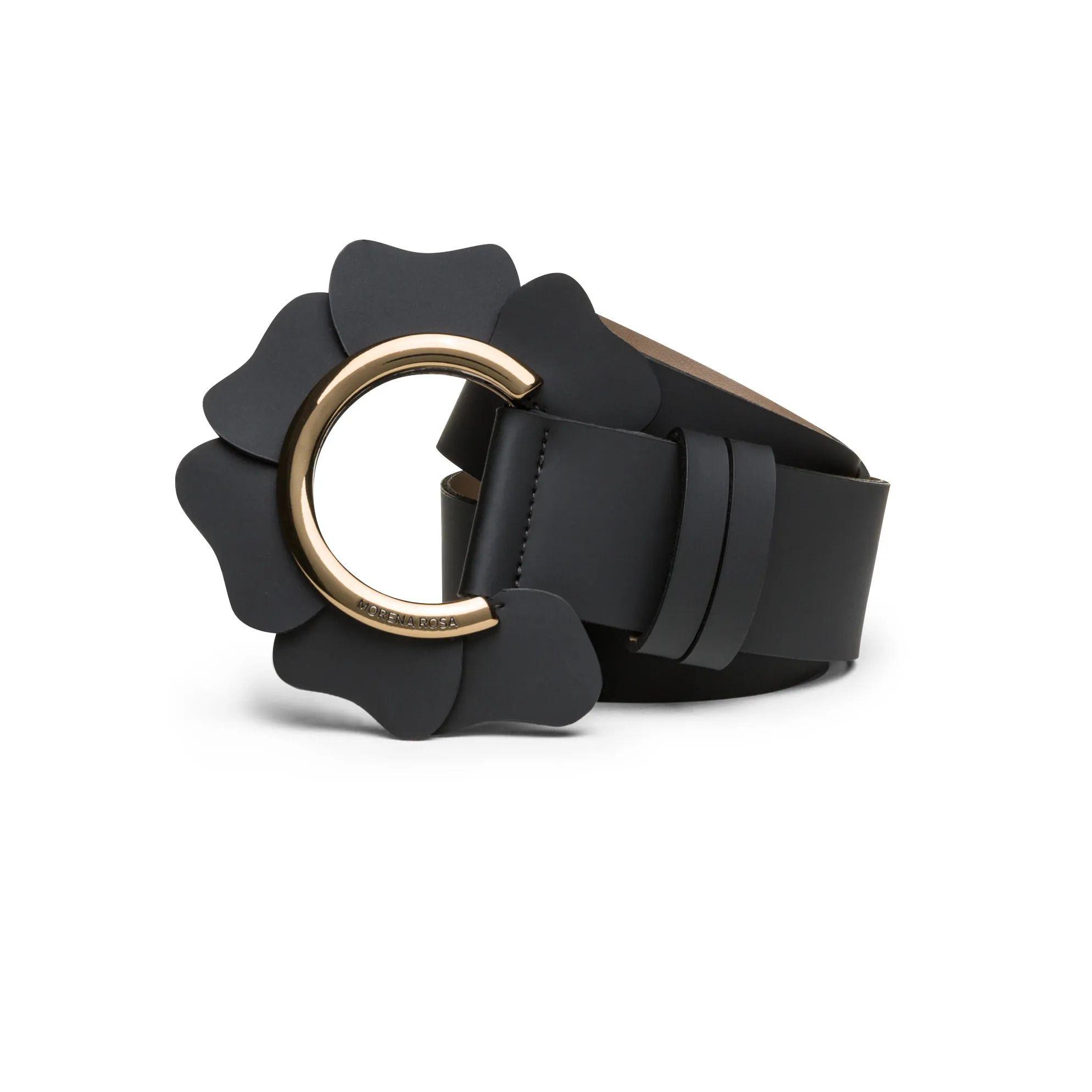 Cinto Cintura Medio Detalhe Formato Petalas Morena Rosa