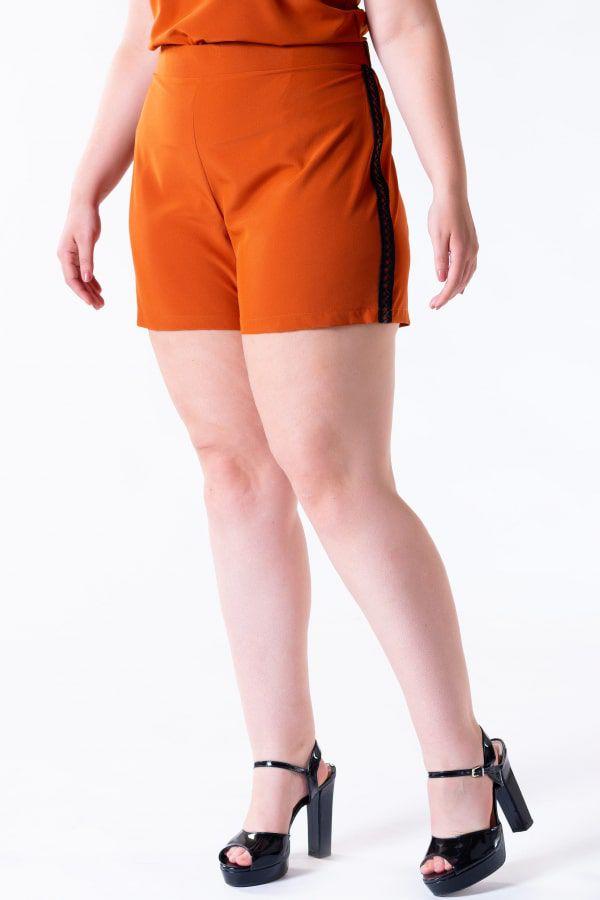 Conjunto Short E Blusa Com Renda Rery