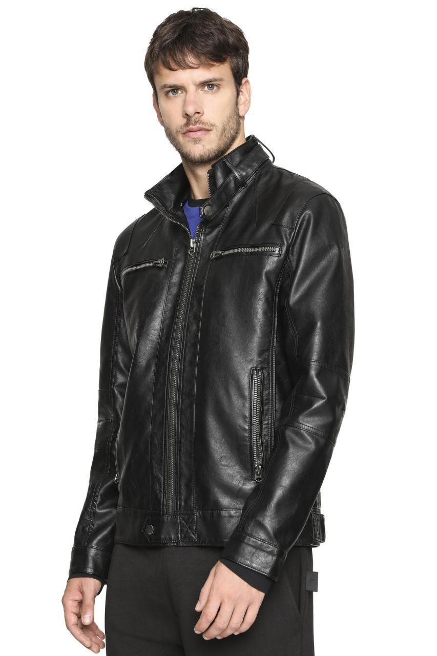 Jaqueta Vintage Leather W Hood Ellus
