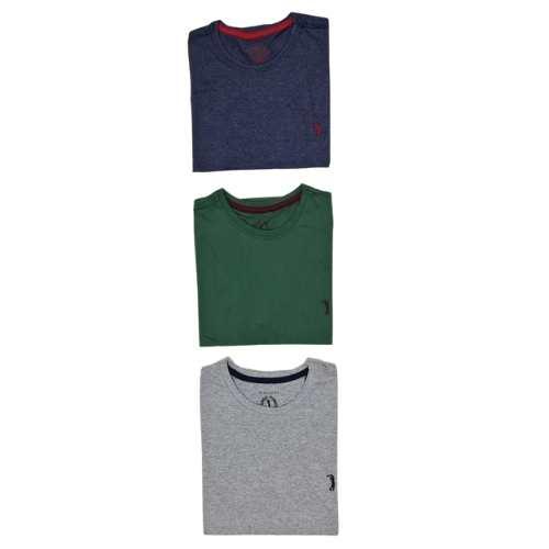 Kit Com 3 Camisetas Básicas Aleatory Manga Curta