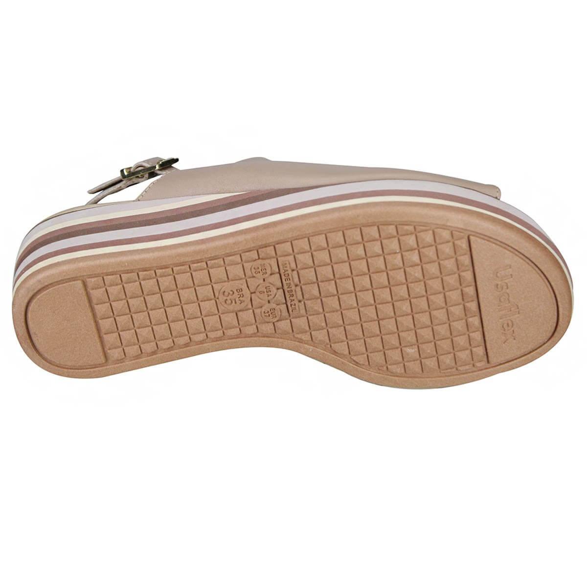 Sandália Soft Slim Solado Listrada Usaflex