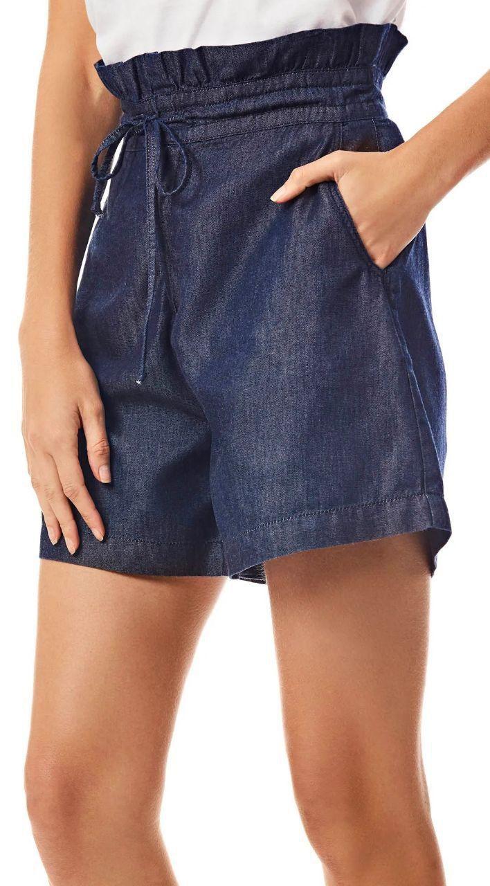 Shorts Clochard com Amarração Morena Rosa