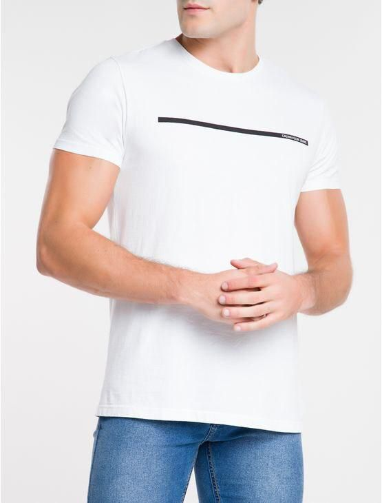 T-shirt MC Palito Frente Calvin Klein