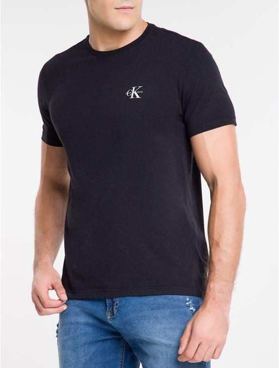 T-shirt MC Re Issue Peito Calvin Klein