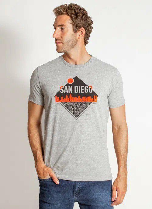 Camiseta Aleatory Manga Curta Estampada San Diego