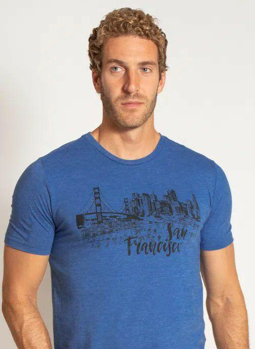 T-shirt Estampada San Francisco Aleatory