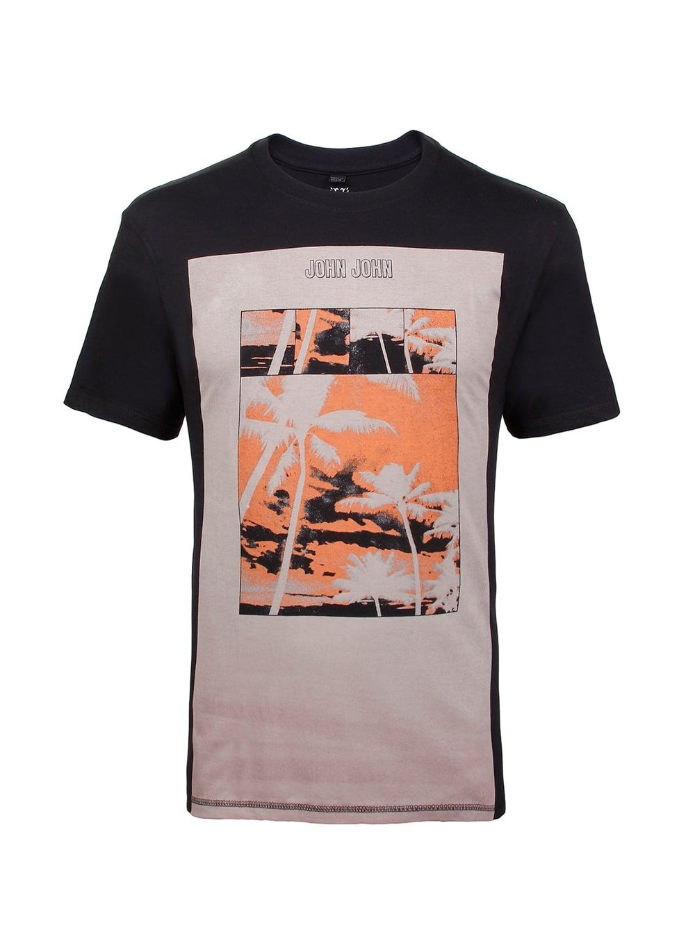 T Shirt Rx Orange Palms John John