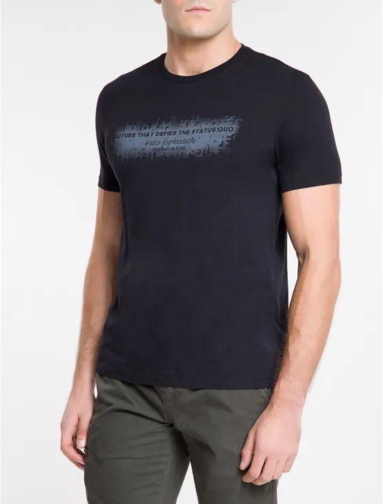 Camiseta Calvin Klein Manga Curta Status Quo