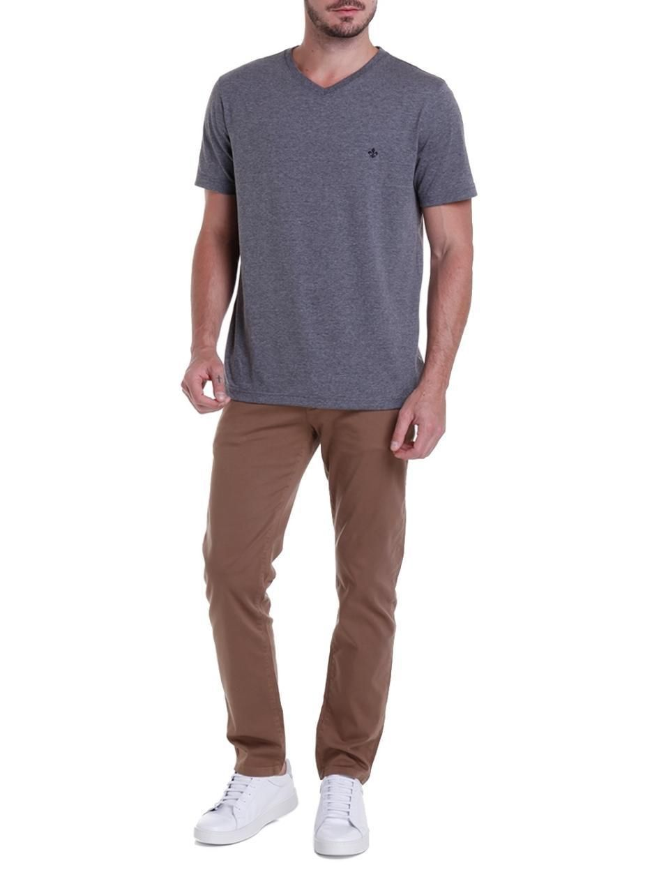 T-shirt Top MC Decote V Pima Essentials Dudalina