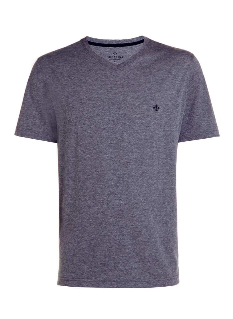 T-shirt Top MC Decote V Pima Essentials Dudalina