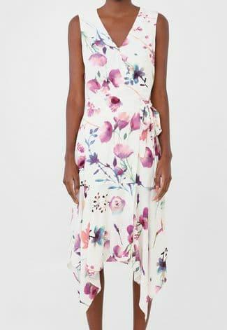 Vestido Dudalina Midi Estampa Floral