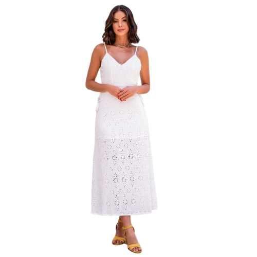 Vestido Limone Laise Longo Decote Lateral
