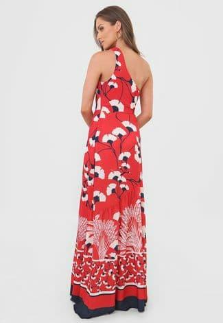 Vestido Longo Dimy Um Ombro Só Floral