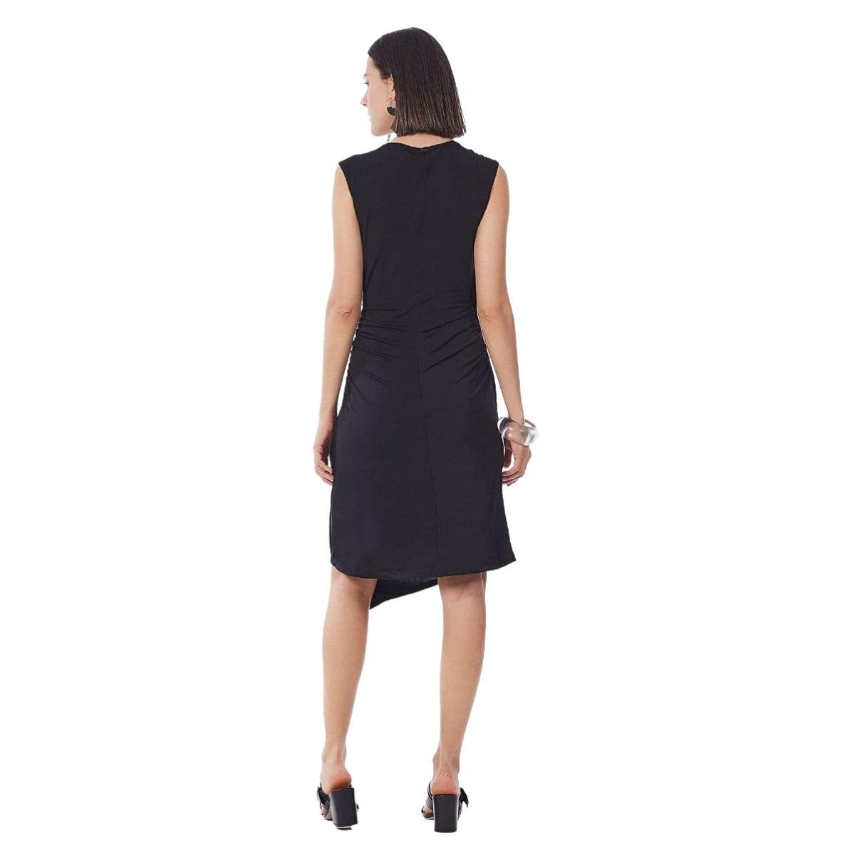 Vestido Maria Valentina Midi Decote Transpassado Com Recorte