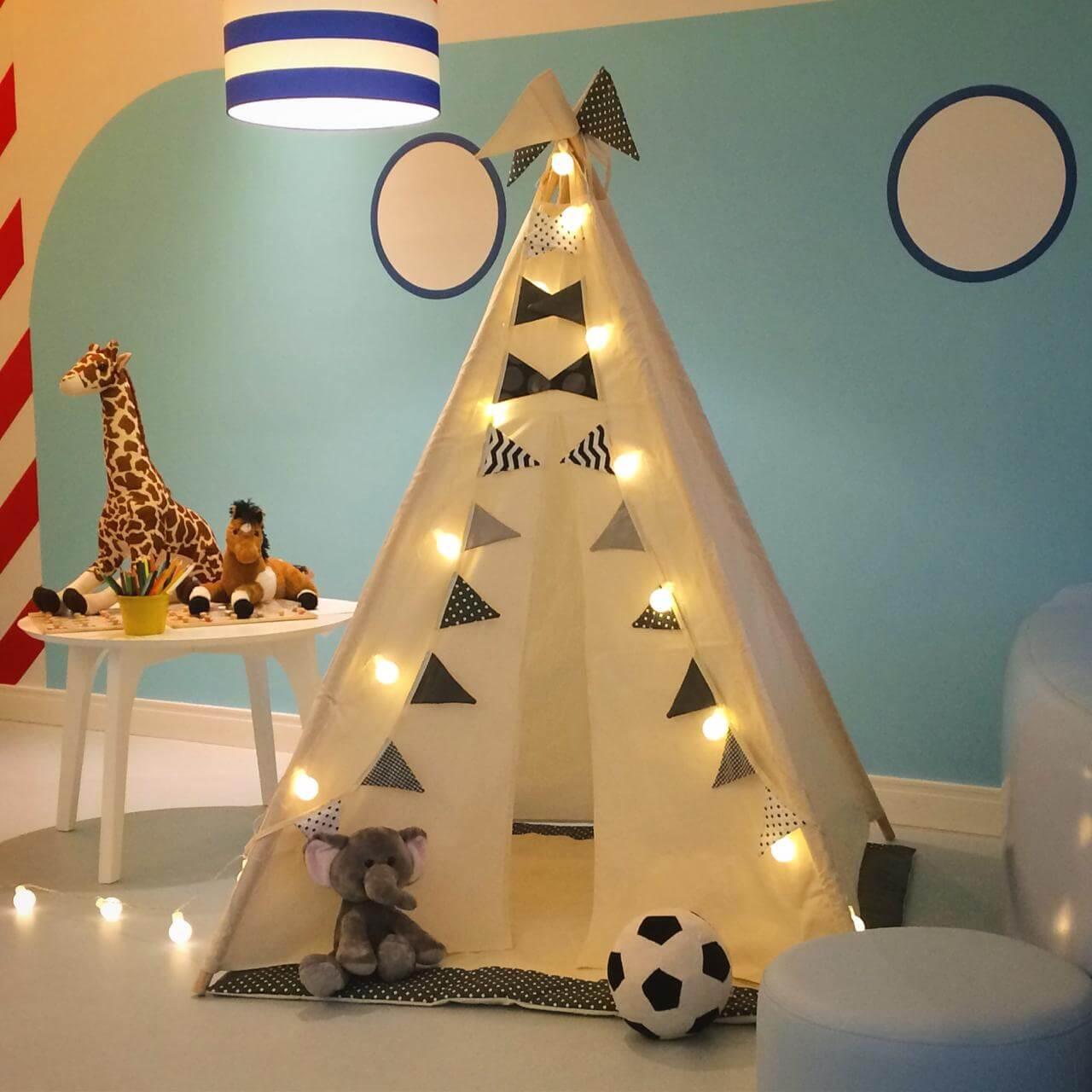 Kit Cabana Branca e Preta (com luzes)