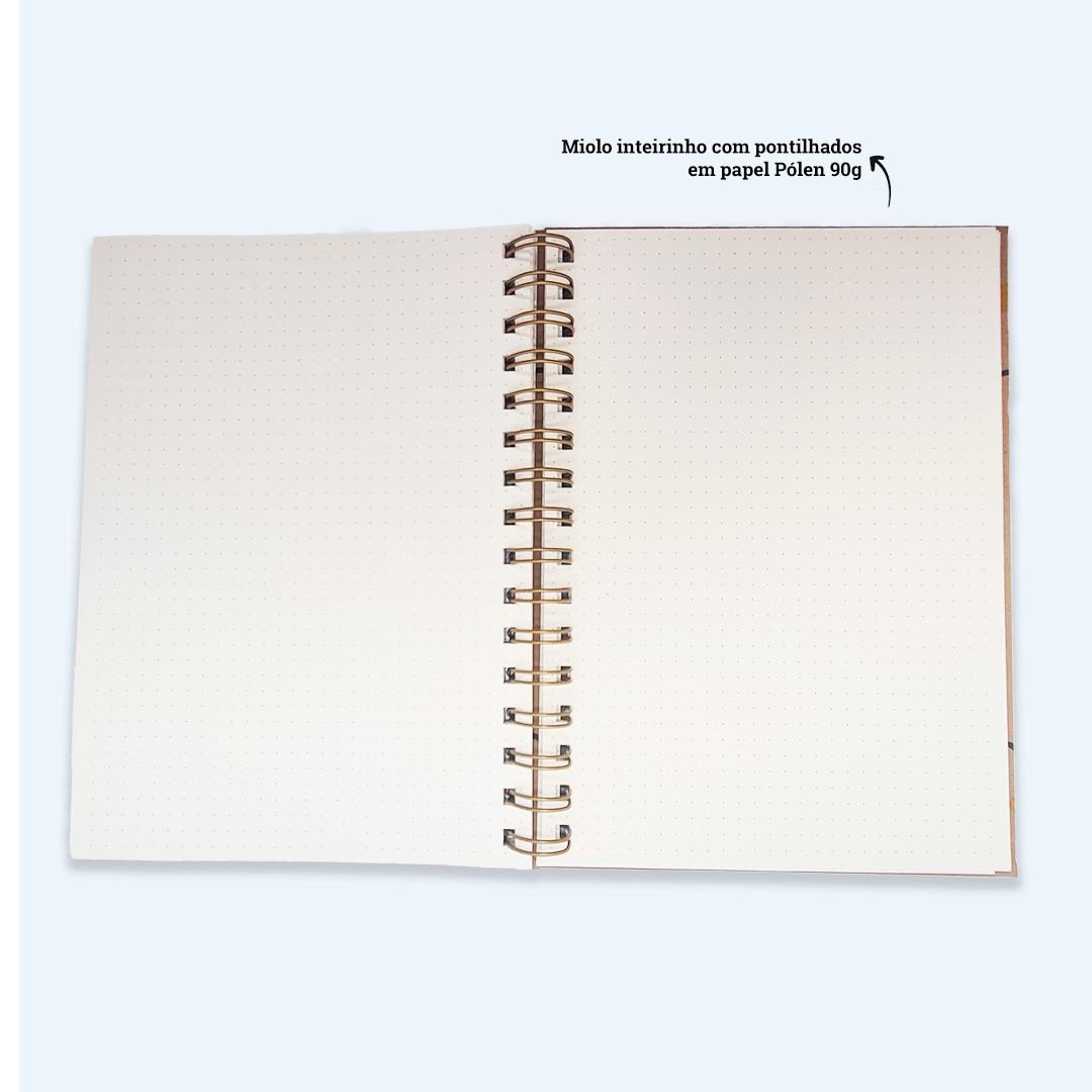 Coleção Kraft - Caderno Pontilhado
