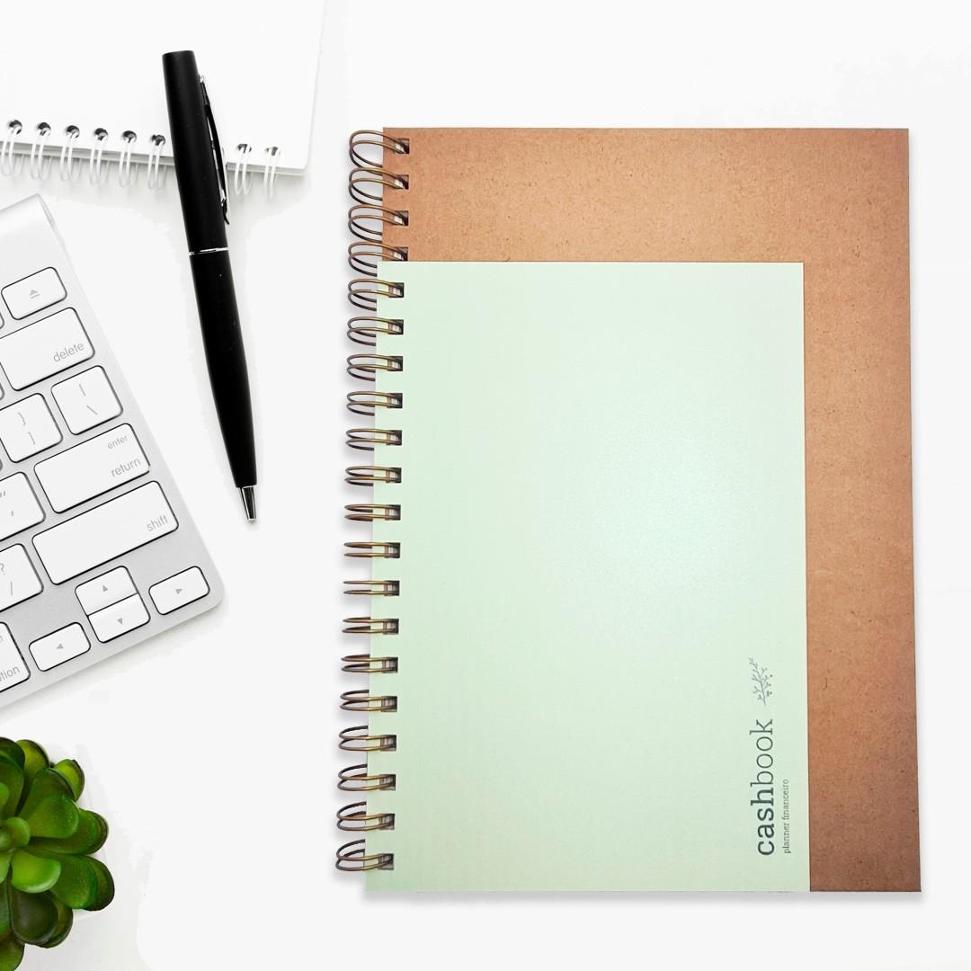 Coleção Kraft - CashBook  Planner Financeiro
