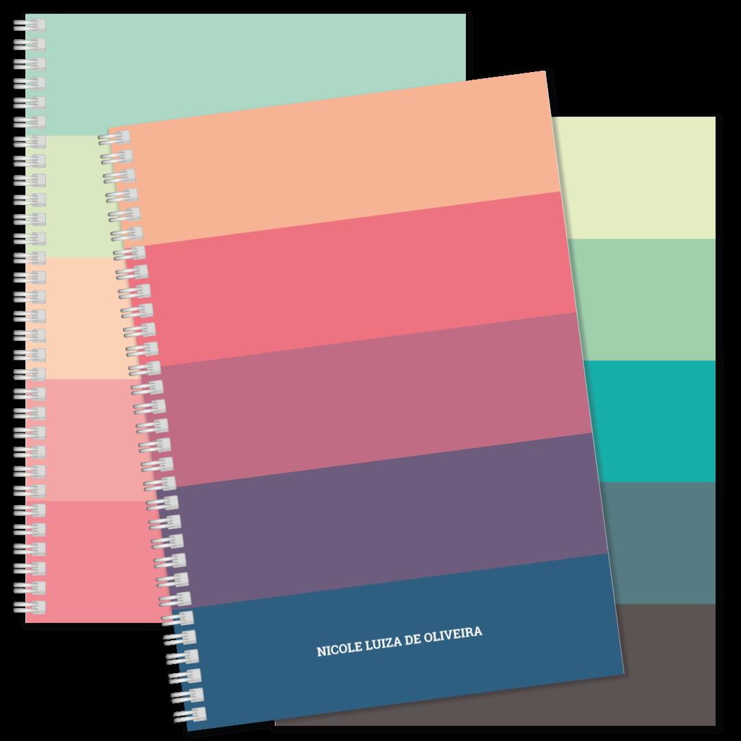 Coleção Rainbow - Caderno Universitário