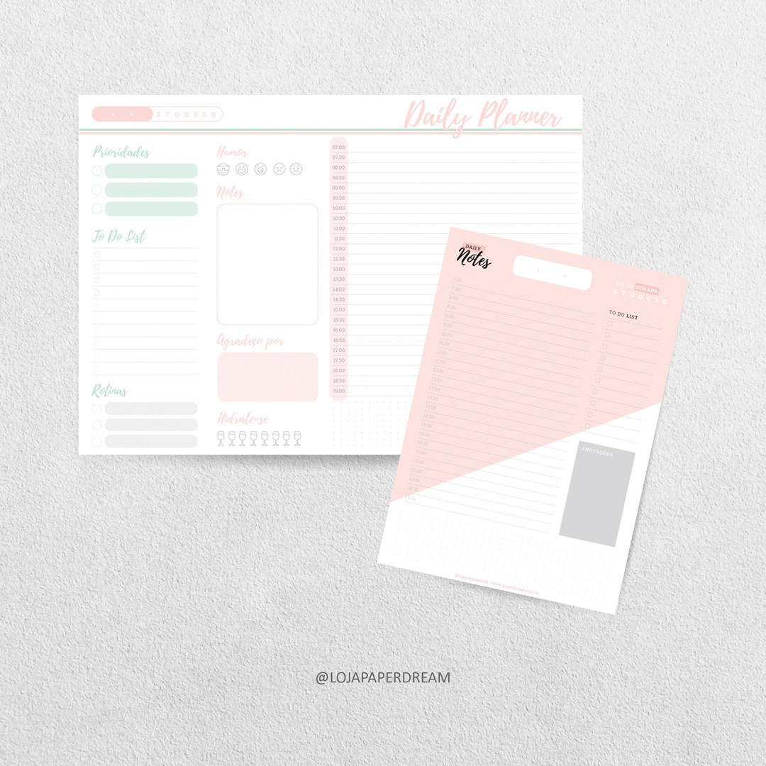 Daily Notes - Pink