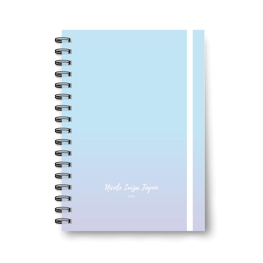 Planner Médio Blue - Não datado