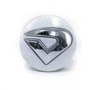 Center Cap Exclusivo  2-Peças Prata com Emblema Cromado (1 unidade)