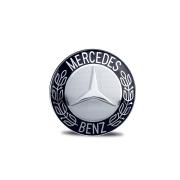 Emblema Adesivo resinado logo marca Mercedes Benz Diâmetro 58mm