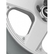 Rebite ou Arrebite com abertura Allen em ABS e acabamento cromado para Roda Santa Mônica