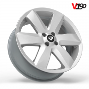 "Roda Volcano V-190  (SURF) - Aro 18"" tala 6"" Prata"