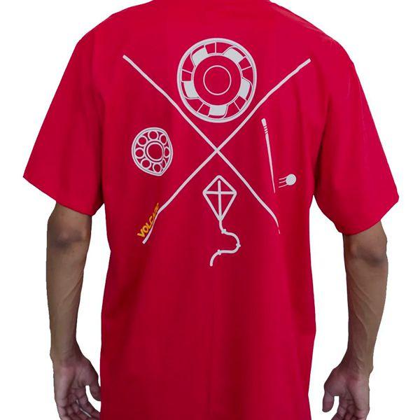 Camiseta Volcano Fun Day Vermelha