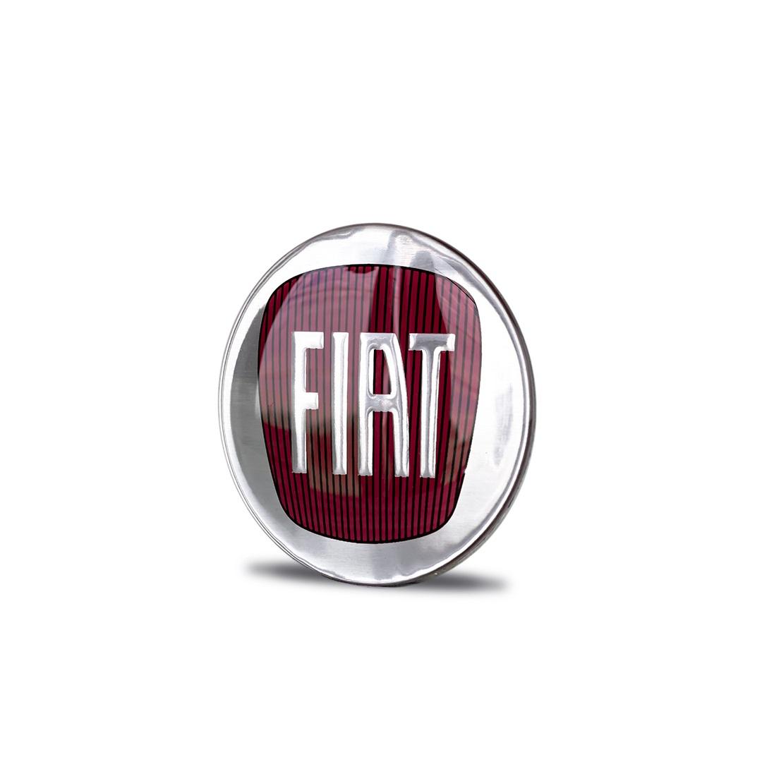 Emblema Adesivo resinado logo marca FIAT Diâmetro 58mm