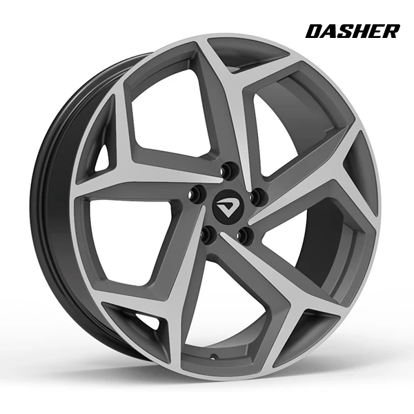 "Roda Volcano DASHER Aro 20"" tala 7,5"" Grafite fosco diamantado"
