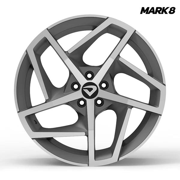"""Roda Volcano MARK 8 Aro 18"""" tala 6"""" Grafite fosco diamantado"""