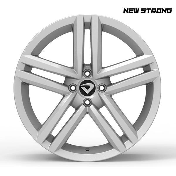 "Roda Volcano NEW STRONG Aro 18"" tala 7"" Prata - Chevrolet, VW, Ford, FIAT, Honda, Hyundai, Toyota, Nissan, KIA, Renault, PEUGEOT, Citroën"