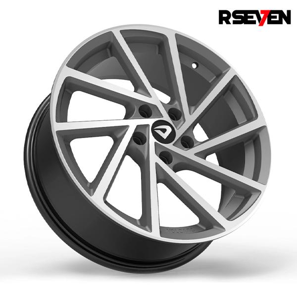 "Roda Volcano R-SEVEN Aro 18"" tala 6"" Grafite fosco diamantado - Chevrolet, VW, Ford, FIAT, Honda, Hyundai, Toyota, Nissan, KIA, Renault, PEUGEOT, Citroën"