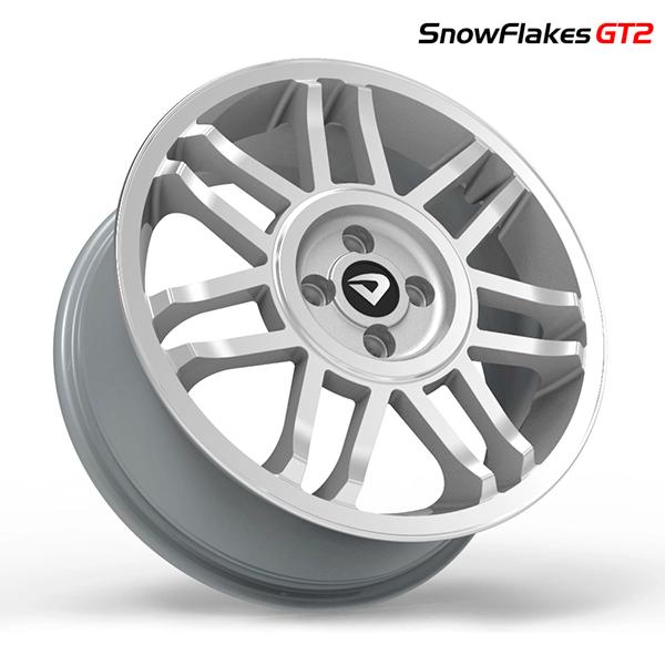 "Roda Volcano SNOWFLAKES GT2 Aro 17"" tala 6"" Prata diamantado"