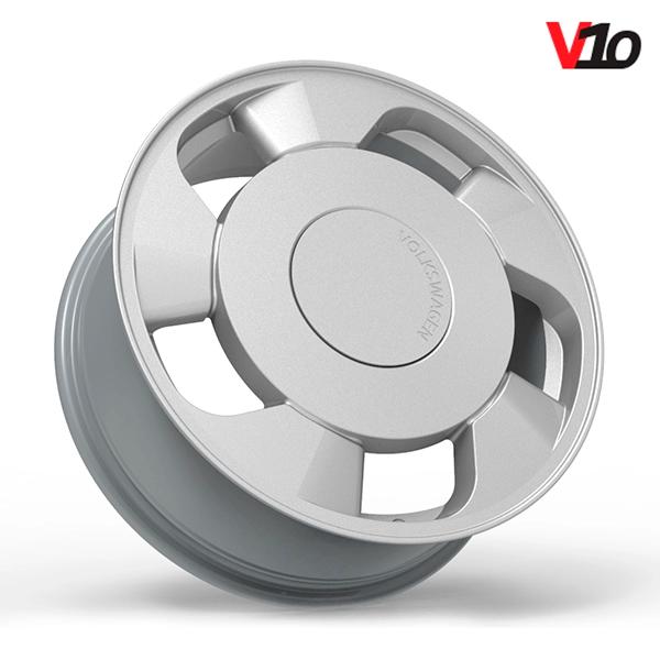 """Roda Volcano V-10 (ORBITAL) - Aro 17"""" tala 6"""" Prata"""