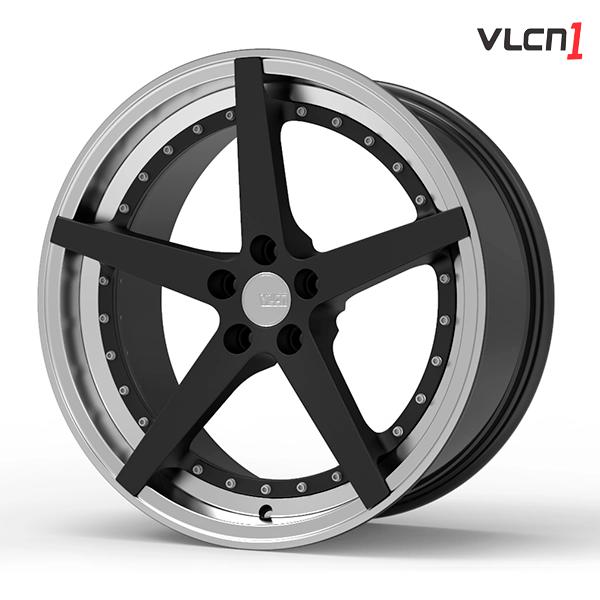 "Roda Volcano VLCN1 Aro 18"" tala 8"" Preto Fosco"