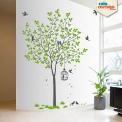 Adesivo Árvore com pássaros