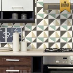 Adesivo de azulejo geométrico retrô