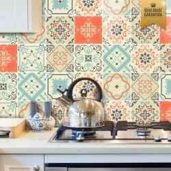 Adesivo de azulejo tons pastéis