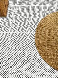 Adesivo para piso branco e preto lavavel antiderrapante