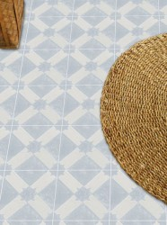 Adesivo para piso ladrilho cinza azulado lavável antiderrapante