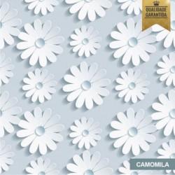 Papel de parede floral 3D camomila