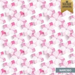 Papel de parede floral 3D narciso