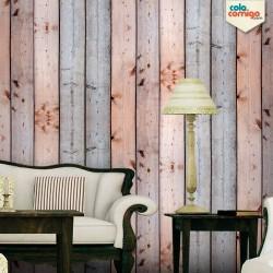 Papel de parede madeira rústica de demolição